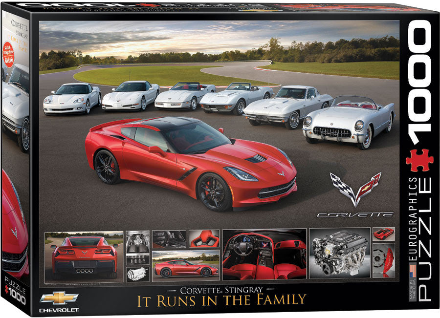 EuroGraphics Puzzles It Runs in the Family-2014 Corvette Stingray