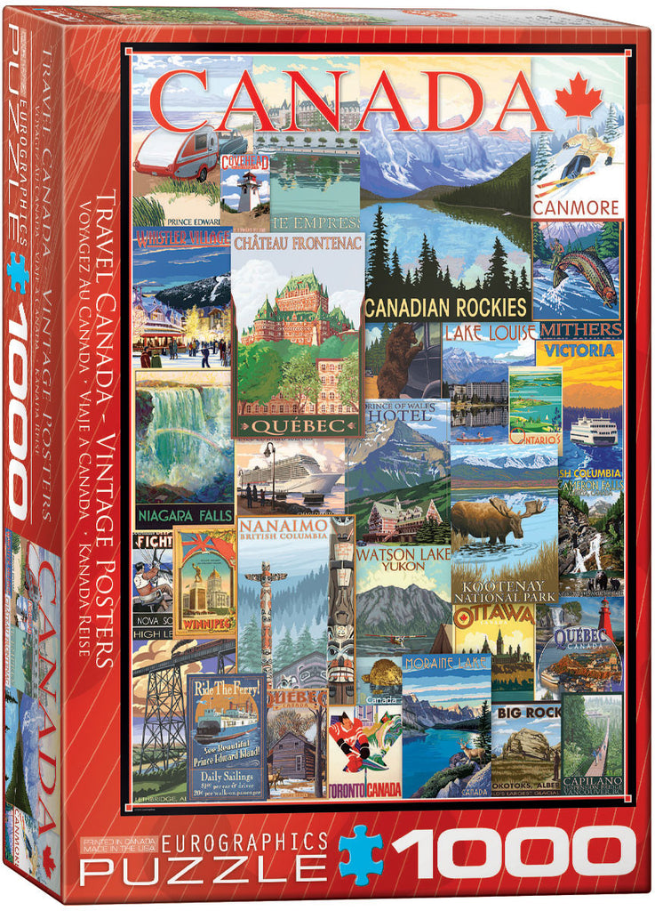 EuroGraphics Puzzles Travel Canada -Vintage Poster Collage