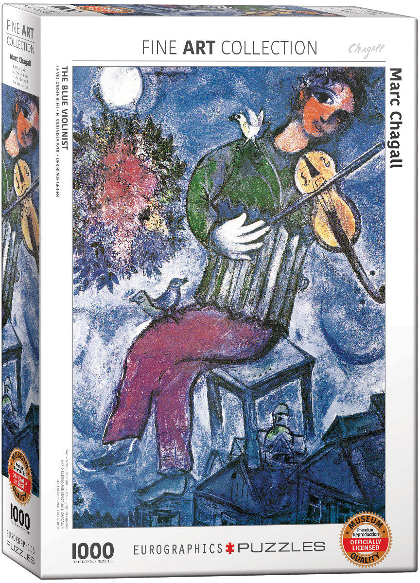 EuroGraphics Puzzles The Blue Violinist by Marc Chagall