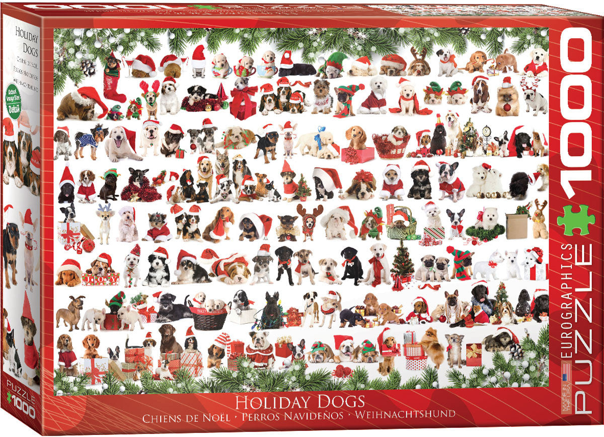 EuroGraphics Puzzles Christmas Puppies