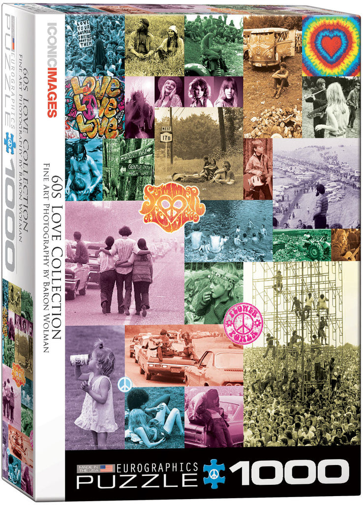 EuroGraphics Puzzles 60s Love Collection by Baron Wolman