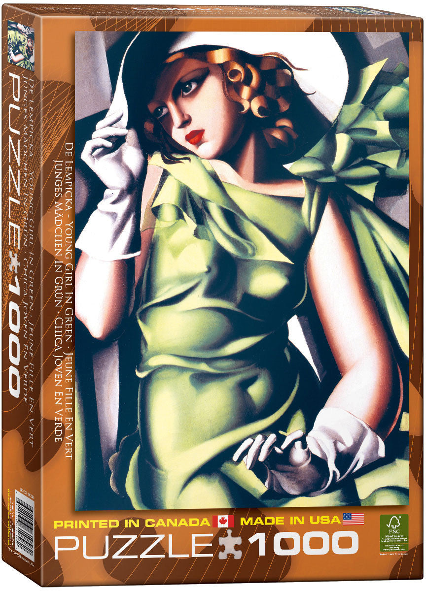 EuroGraphics Puzzles Young Girl in Green by Tamara De Lempicka