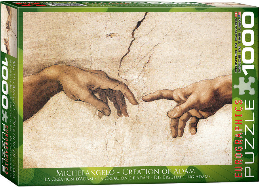 eurographics puzzles creation of adam detail by michelangelo you