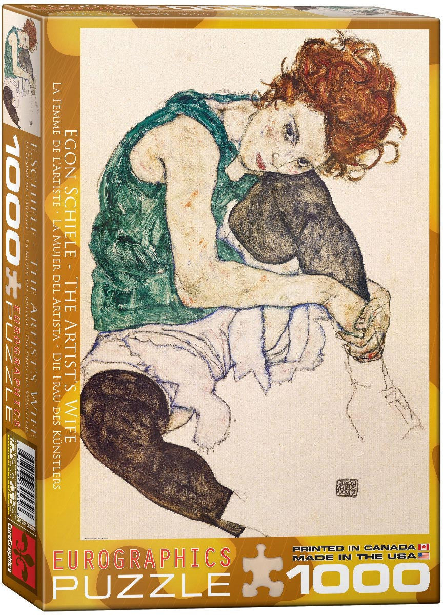 EuroGraphics Puzzles The Artist's Wife byEgon Schiele