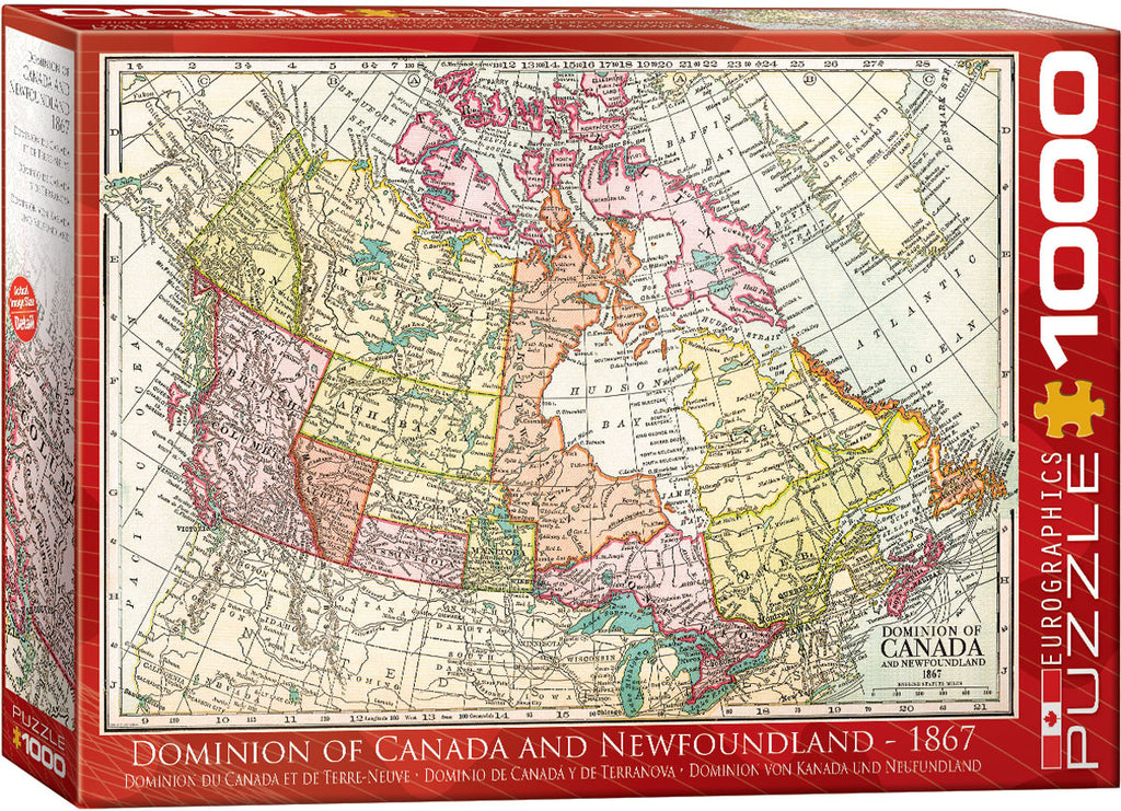 EuroGraphics Dominion of Canada and Newfoundland - 1867  6000-5304