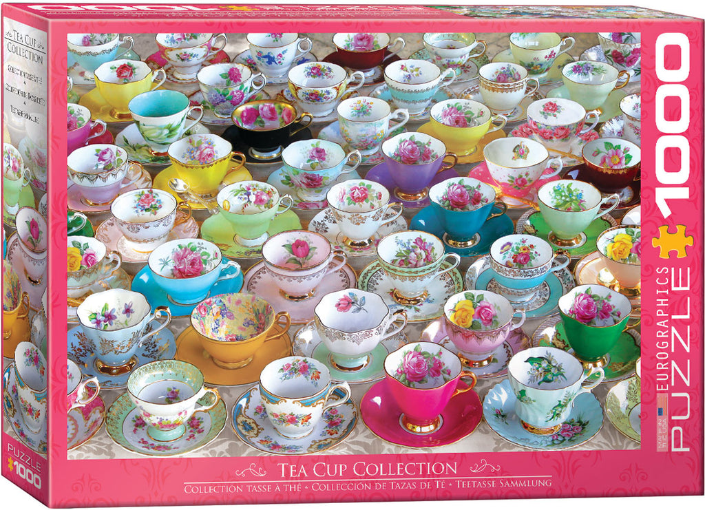 EuroGraphics Tea Cup Collection Vintage Art Collages 6000-5314