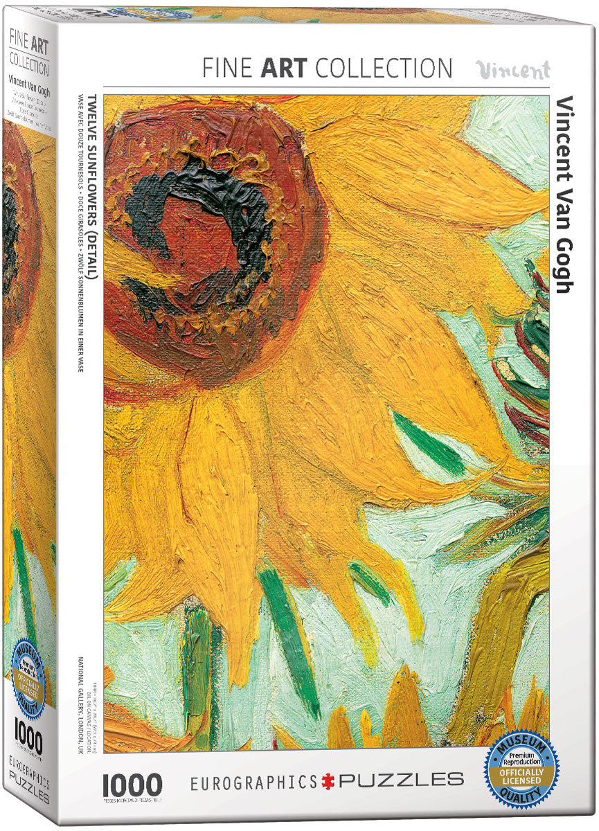 EuroGraphics Puzzles Twelve Sunflowers (Detail) by Vincent Van Gogh