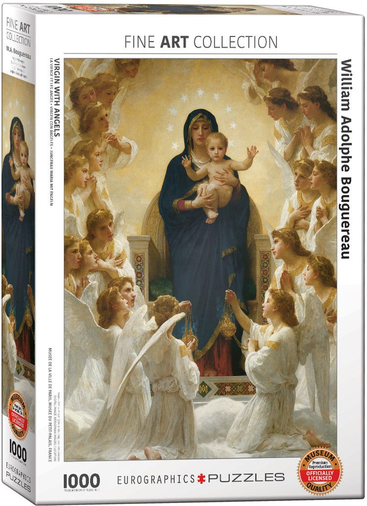 EuroGraphics Puzzles Virgin With Angels by Williams Adolphe Bouguereau