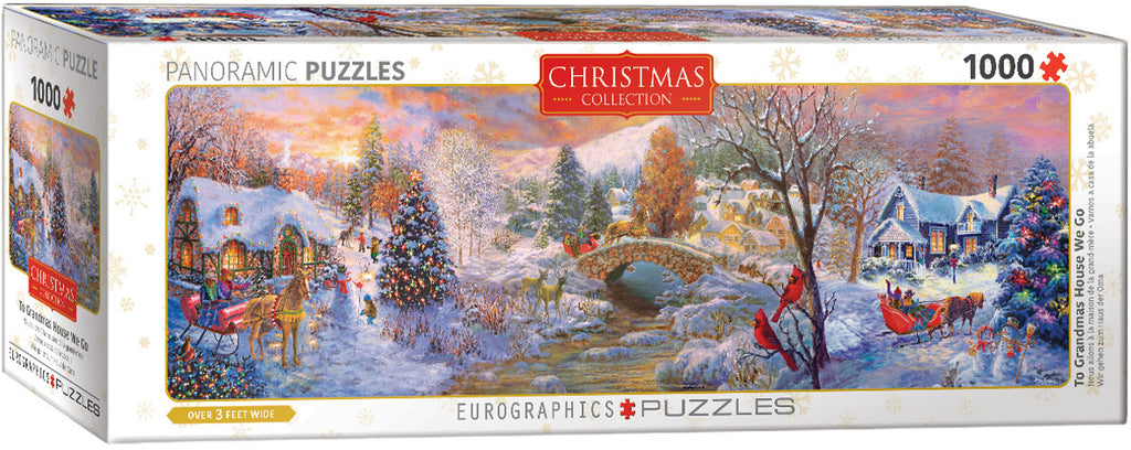 EuroGraphics To Grandma's House We Go Panoramic Puzzles 6010-5331