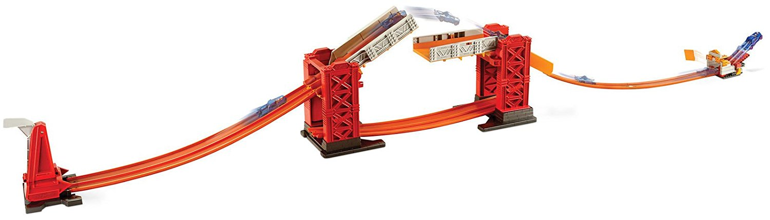 Mattel Hot Wheels Track Builder Troll Bridge Challenge Playset Toy Vehicle FJJ95