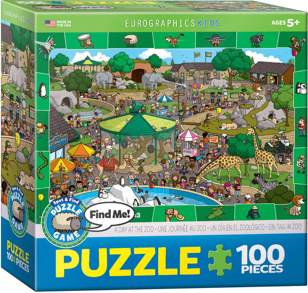 EuroGraphics Puzzles A Day in the Zoo - Spot & Find