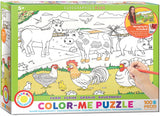 EuroGraphics Puzzles Farm/ Color Me Puzzle - 100pc
