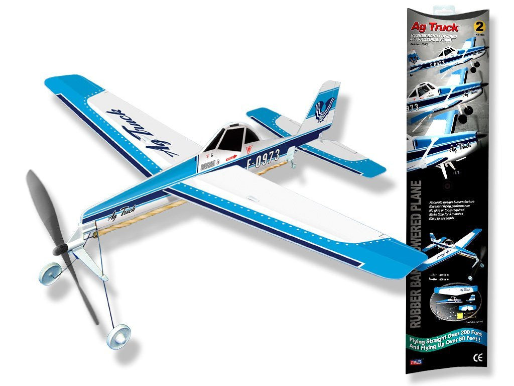 Be Amazing Toys Truck Airplane Rubberband Powered Plane 5002