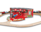 Melissa & Doug Roundhouse & Turntable Set 618