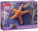 'Sun-Kissed Sea Star' 300-Piece Cardboard Jigsaw Puzzle + FREE Melissa & Doug Scratch Art Mini-Pad Bundle [89913]