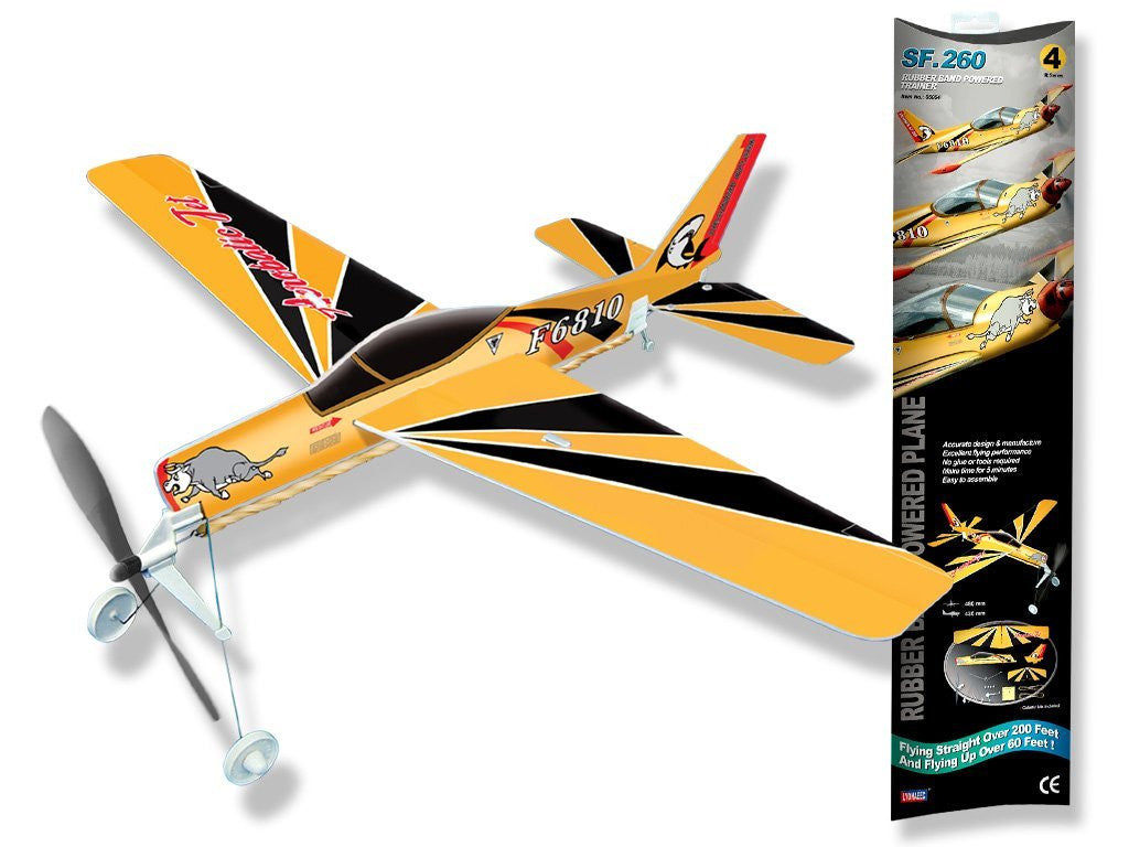 Be Amazing Toys Trainer Rubberband Powered Plane 5004
