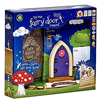 Irish Fairy Door Purple Arched FD554219