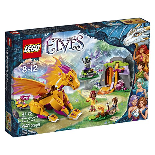 LEGO Elves Fire Dragons Lava Cave 41175 Creative Play Toy For 8- To 12-Year-Olds