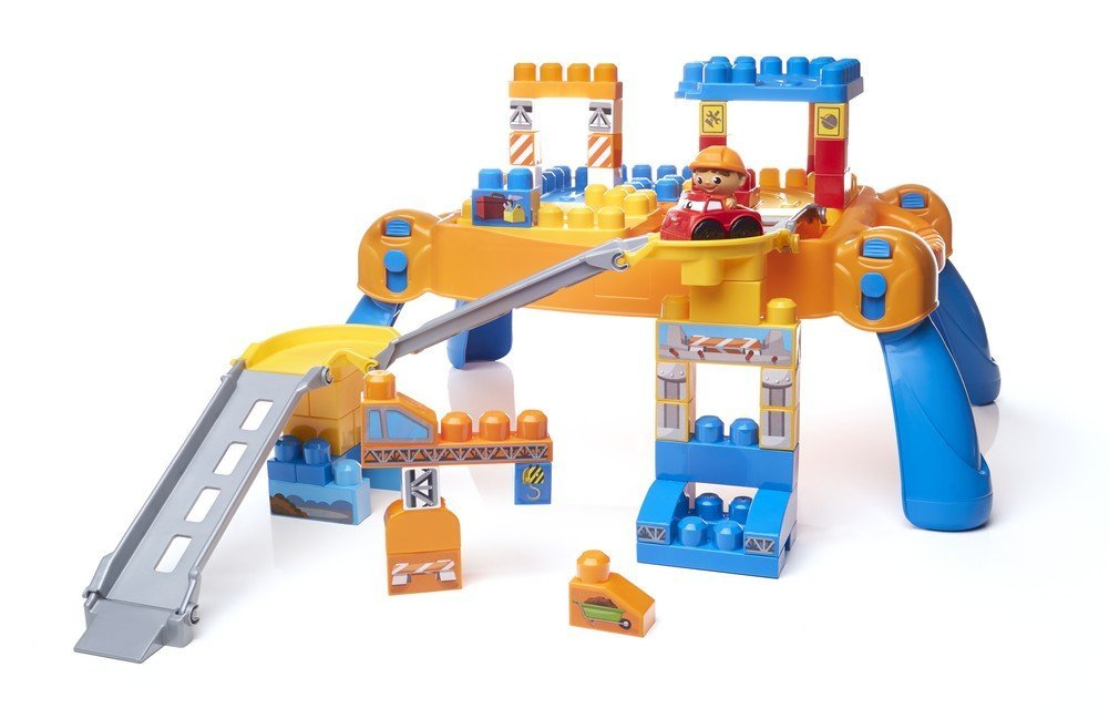 Mega Bloks First Builders Build N' Go Table Building Blocks DPY52