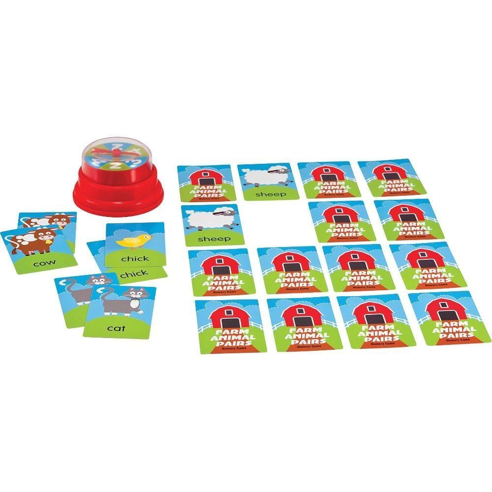 Melissa & Doug Press & Spin Game: Farm Animal Pairs