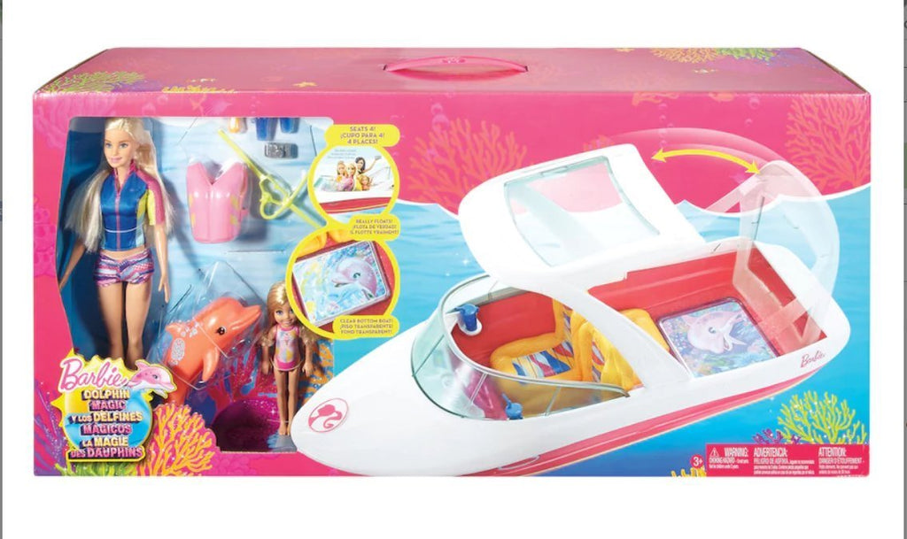 Mattel Barbie Dolphin Magic Ocean View Boat & Doll Giftset  FJH91