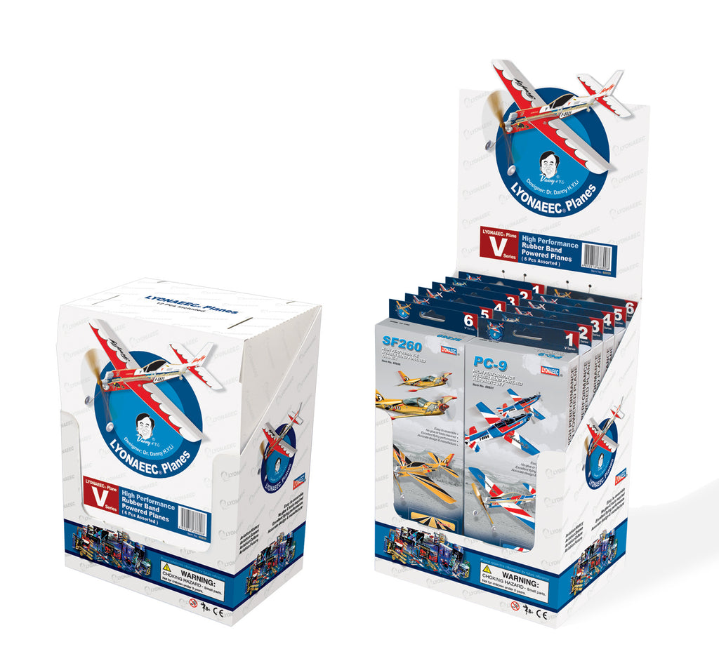 Be Amazing Toys Sky Blue Flight Skyryder Display of 12 Planes 68800