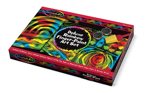 Melissa & Doug Deluxe Rainbow Finger-Paint Art