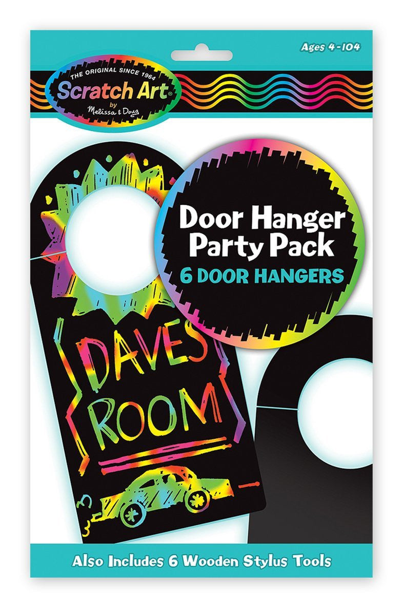 Melissa & Doug Door Hanger Scratch Art Party Pack