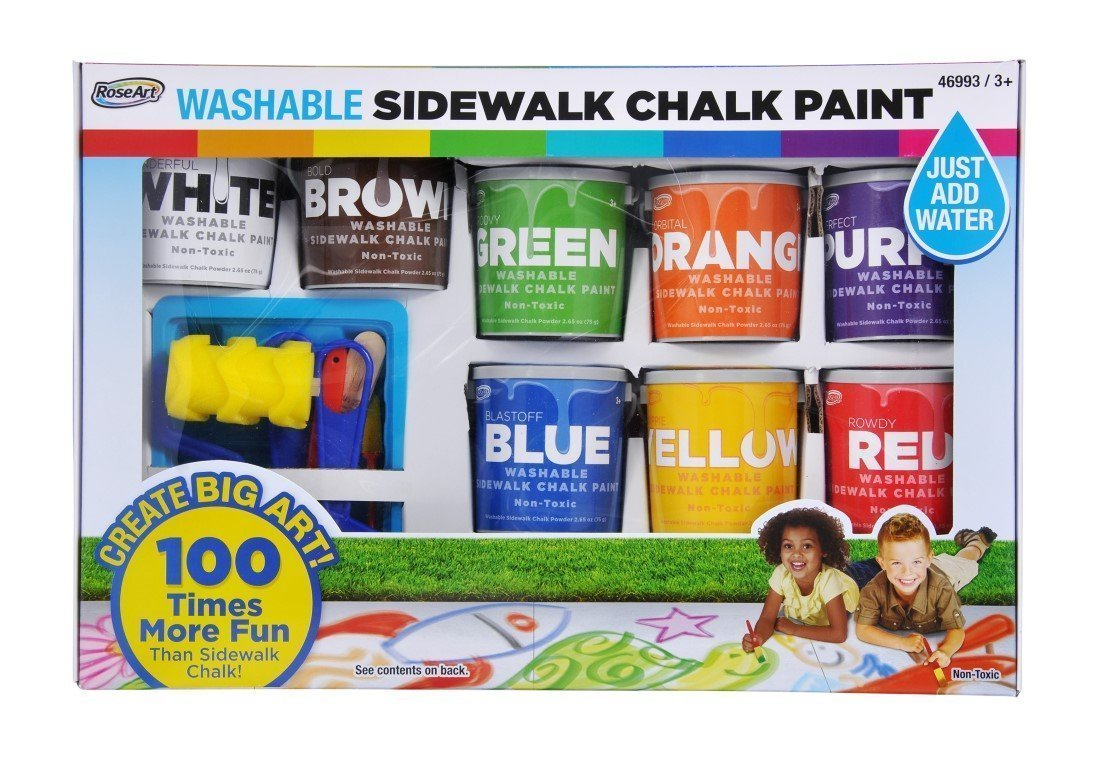 Mattel RoseArt® Washable Sidewalk Chalk Paint Super Set CXX66
