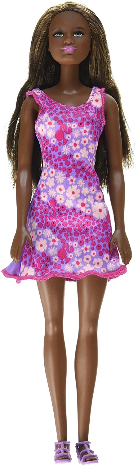 Mattel Barbie Doll - Lavender Background Dress  DVX88