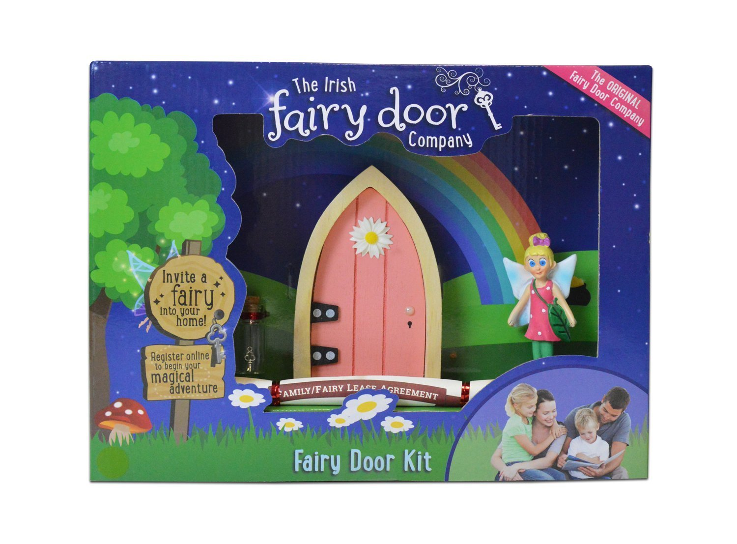 Irish Fairy Door Welcome Kit - Pink or Purple