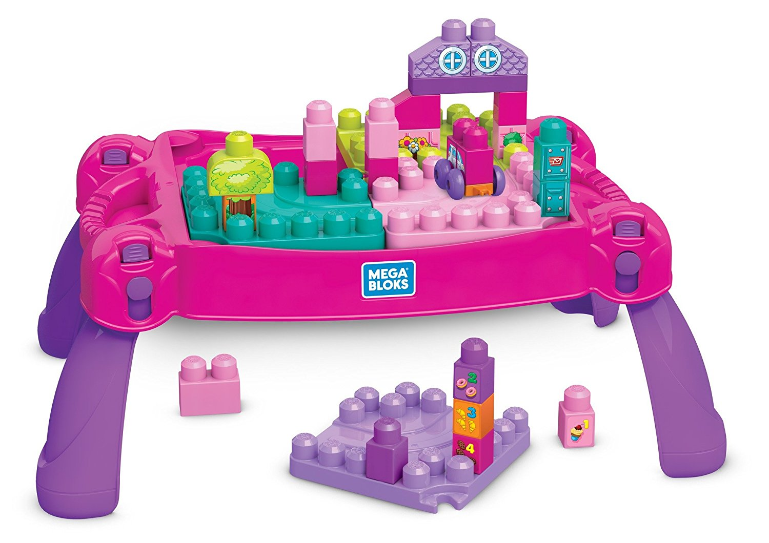 Mega Construx Build 'N Learn Table Building Set Pink or Blue