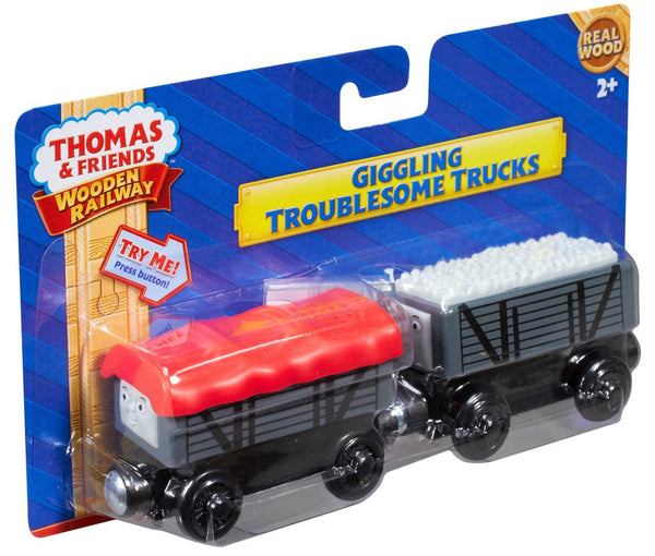 Fisher Price Thomas Friends Wooden Railway Giggling Troublesome Trucks Battery Operated Y4421