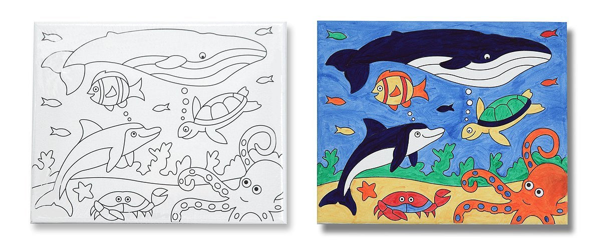 Melissa & Doug Canvas Creations - Sea Life