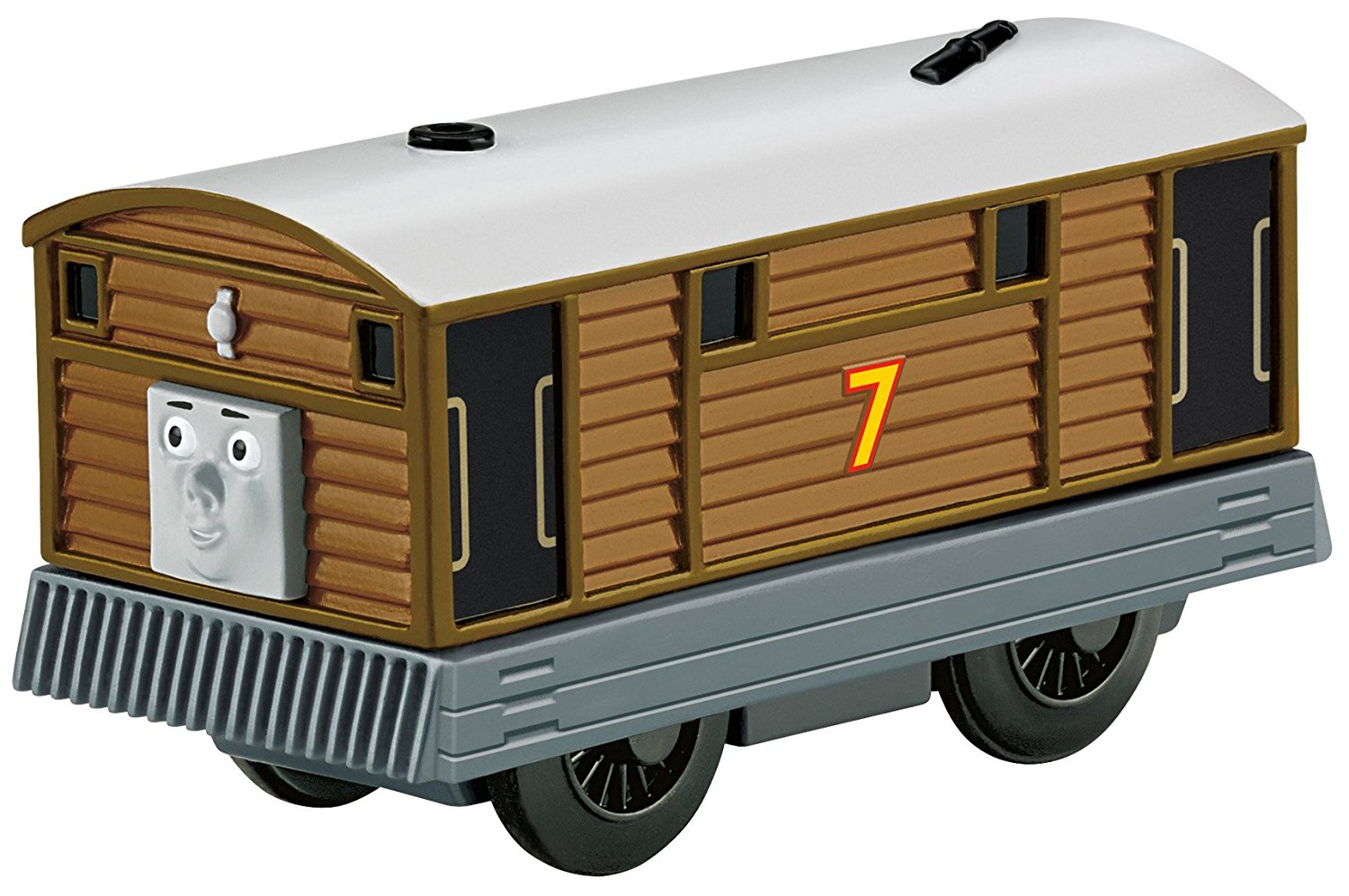 Fisher Price Thomas the Train Wooden Railway Battery-Operated Toby BDG10