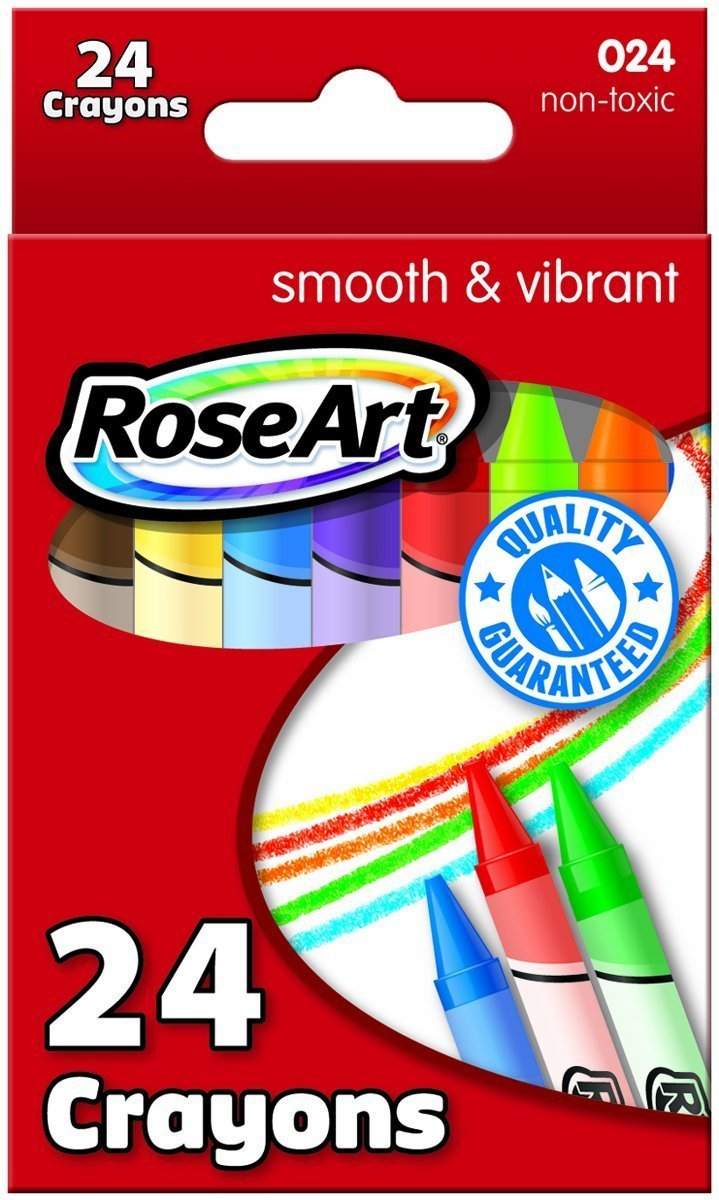 Mattel Rose Art 24-Color Crayons, Packaging May Vary  DFB75