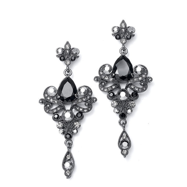 Art Nouveau Cubic Zirconia Wholesale Bridal Earrings 741E