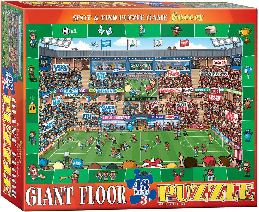 EuroGraphics Puzzles Spot & Find Soccer- Floor Puzzle