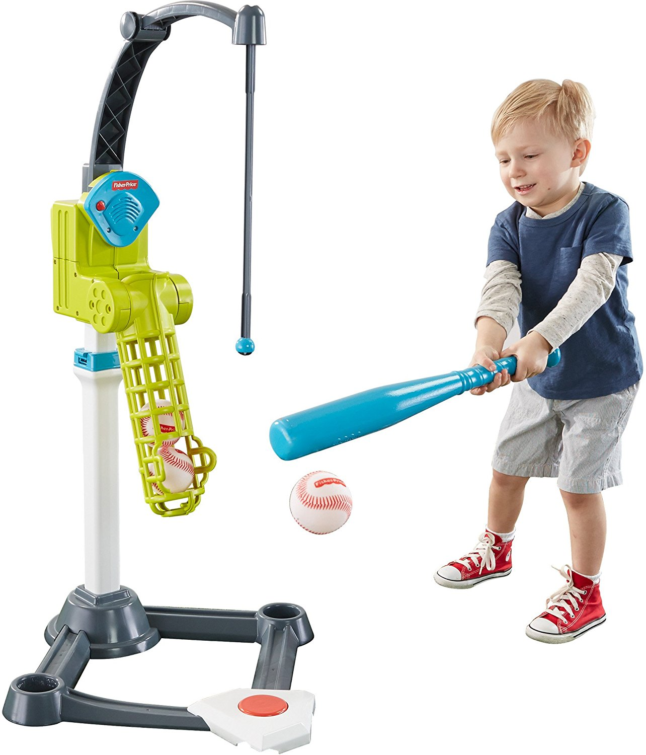 Mattel Fisher-Price Grow-to-Pro Better Batter Baseball DTM19