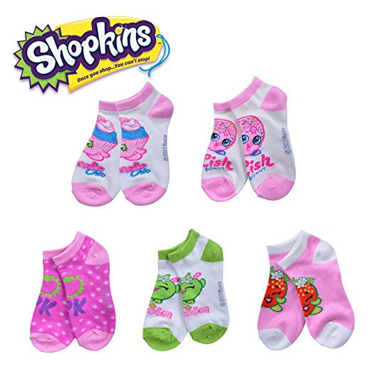 Shopkins - 5 Pack Socks (No Show)