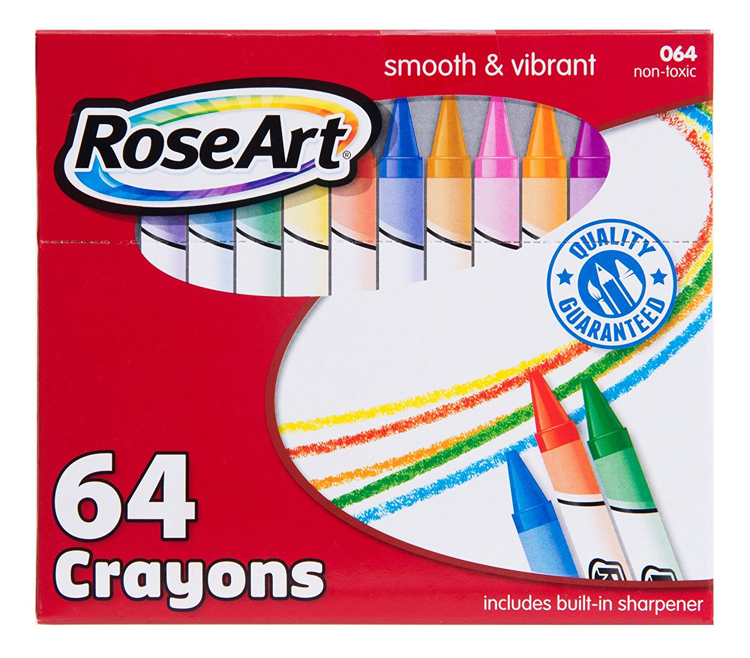 Mattel RoseArt 64-Count Crayons Packaging May Vary CYR96