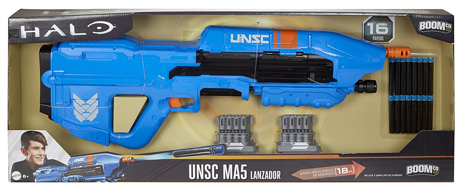 BOOMco. Halo UNSC MA5 Blaster, Blue or Red