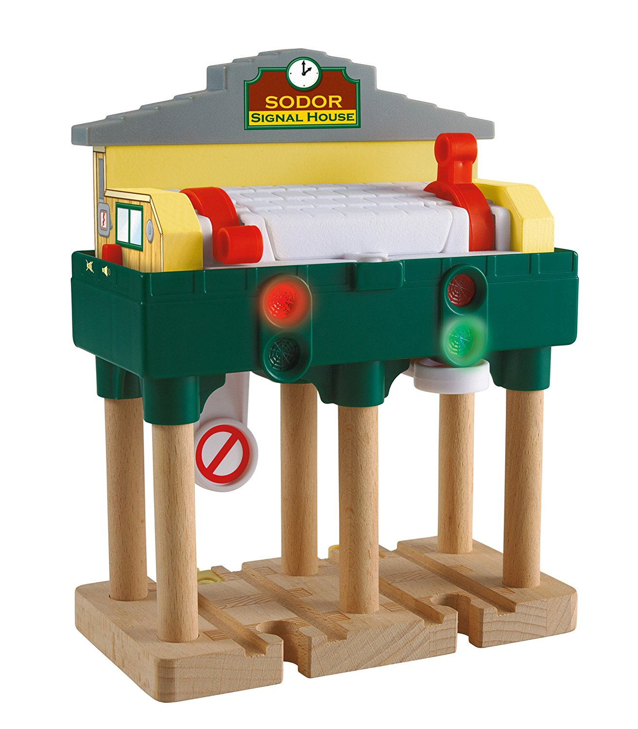 Fisher Price Thomas & Friends Wooden Railway, Deluxe Over-The-Track Signal - Battery Operated Y4092