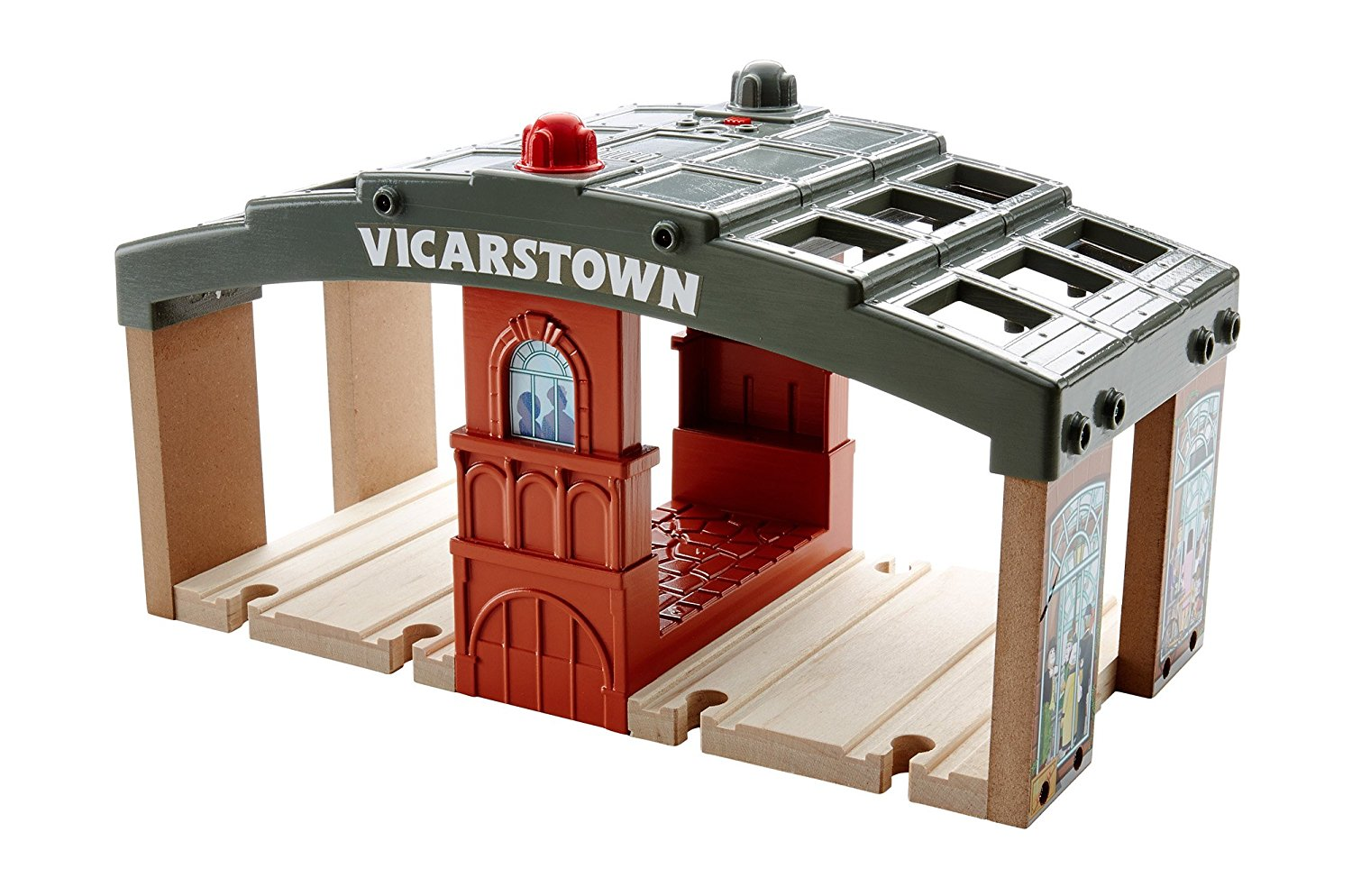 Fisher Price Thomas & Friends Wooden Railway, Vicarstown Station Set - Battery Operated DFW92