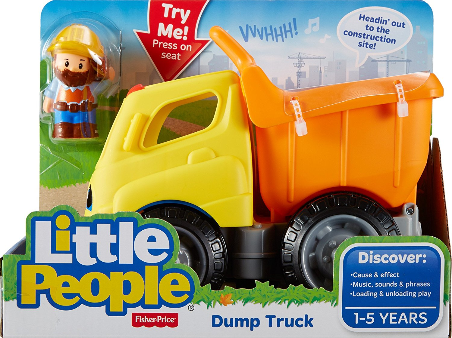 Musical Toddler Toy Fisher-Price Little People Work Together Dump Truck