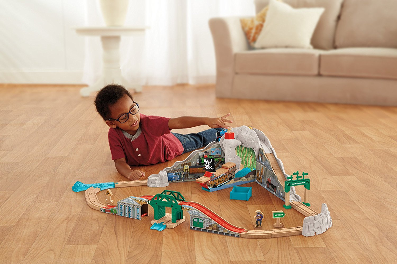 Fisher Price Thomas the Train Wooden Railway Pirate Cove Discovery ...