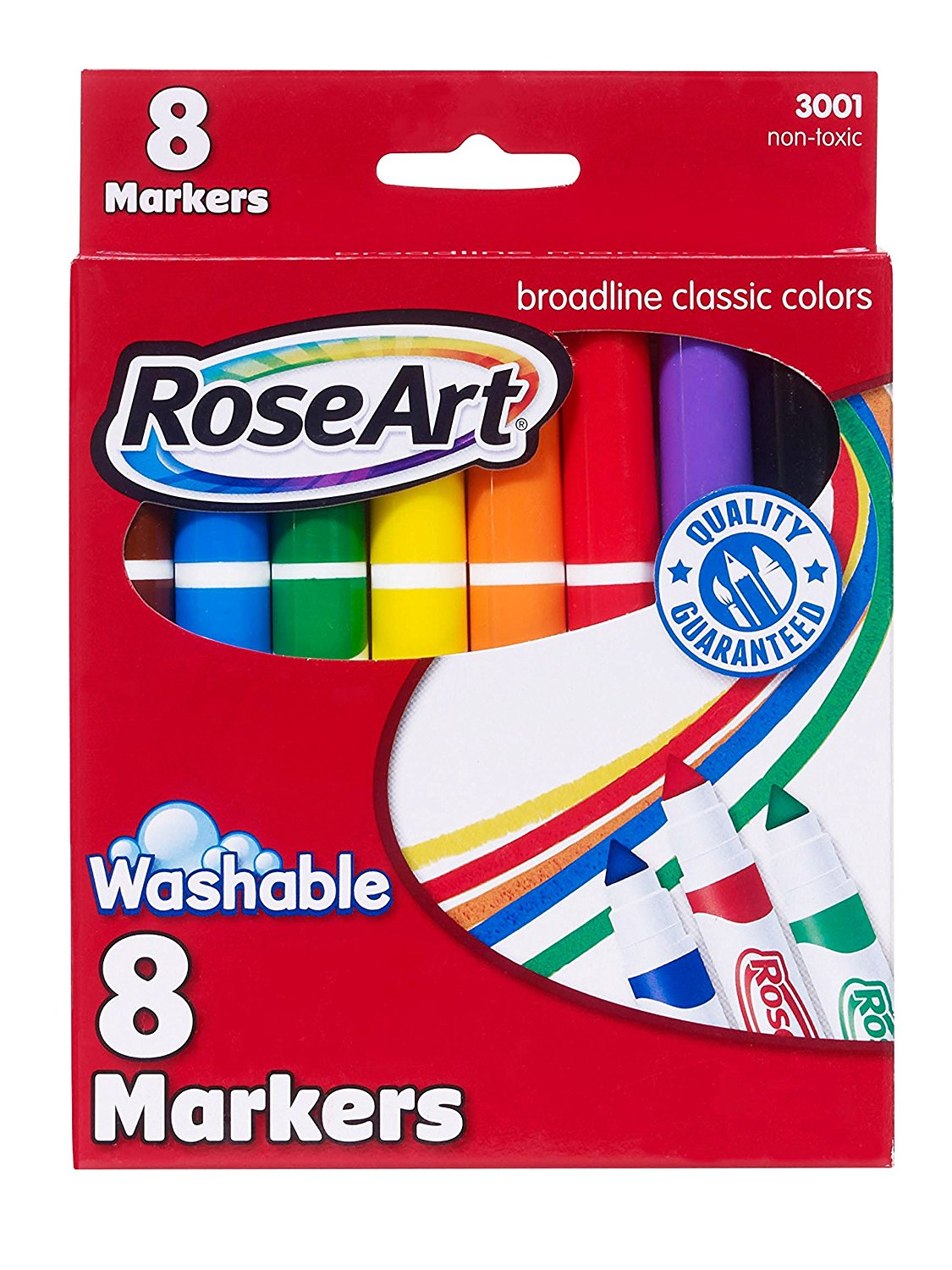 Mattel RoseArt Classic Washable Broadline Markers 8-Count Packaging May Vary DDT57