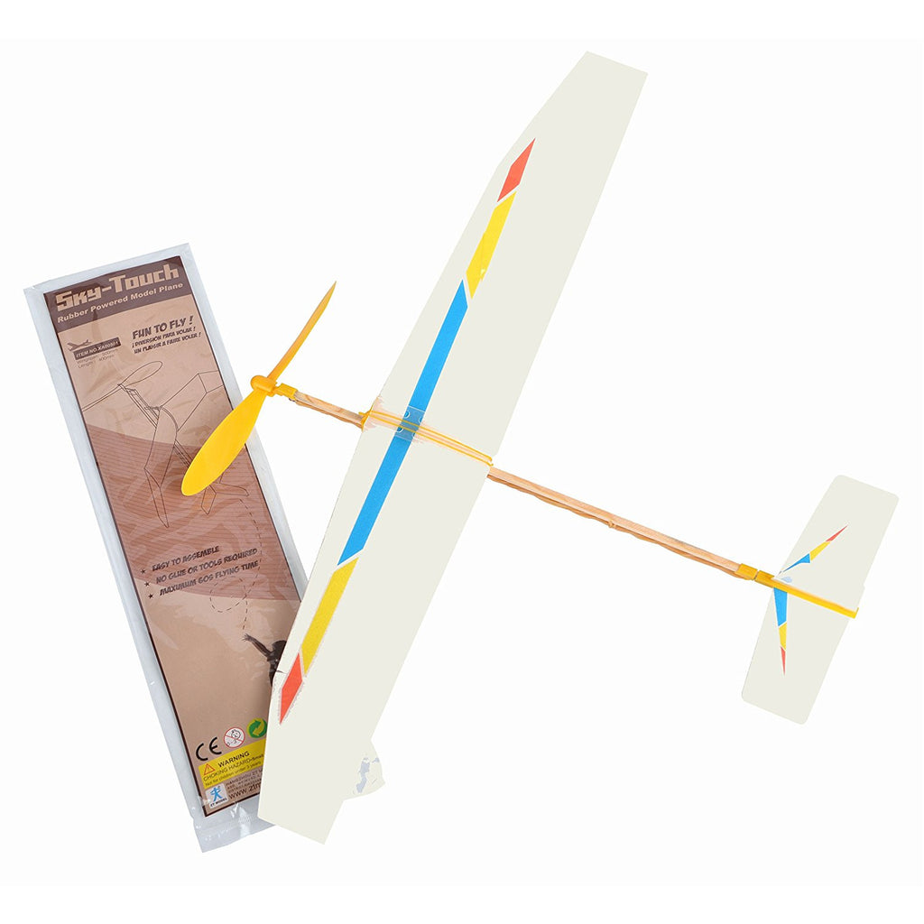 Be Amazing Toys Sky Touch Rubber Band Powered Plane