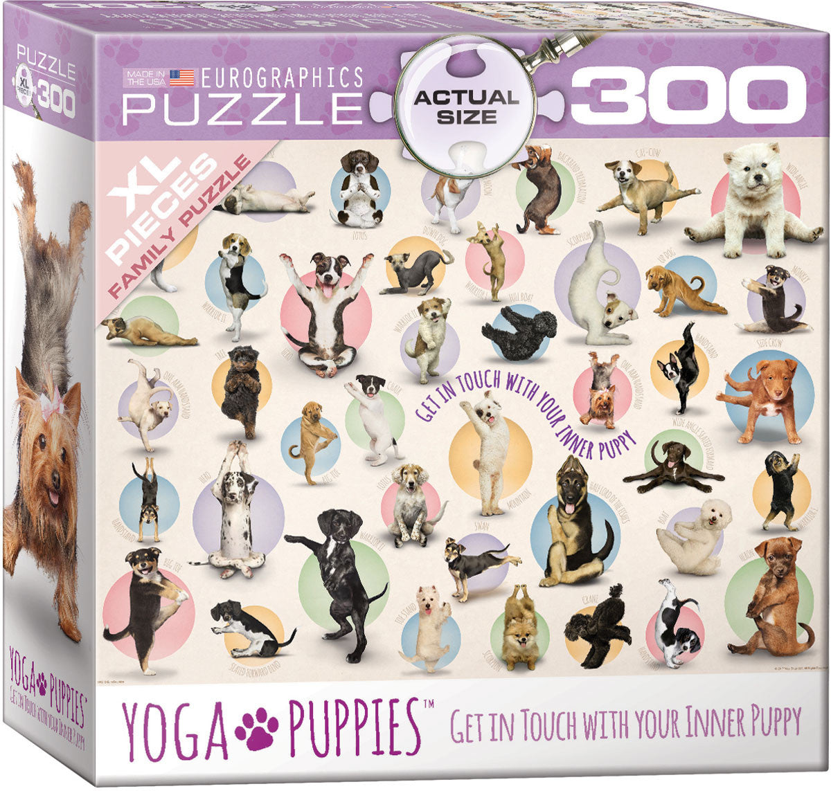 EuroGraphics Puzzles Yoga Puppies (300pc)