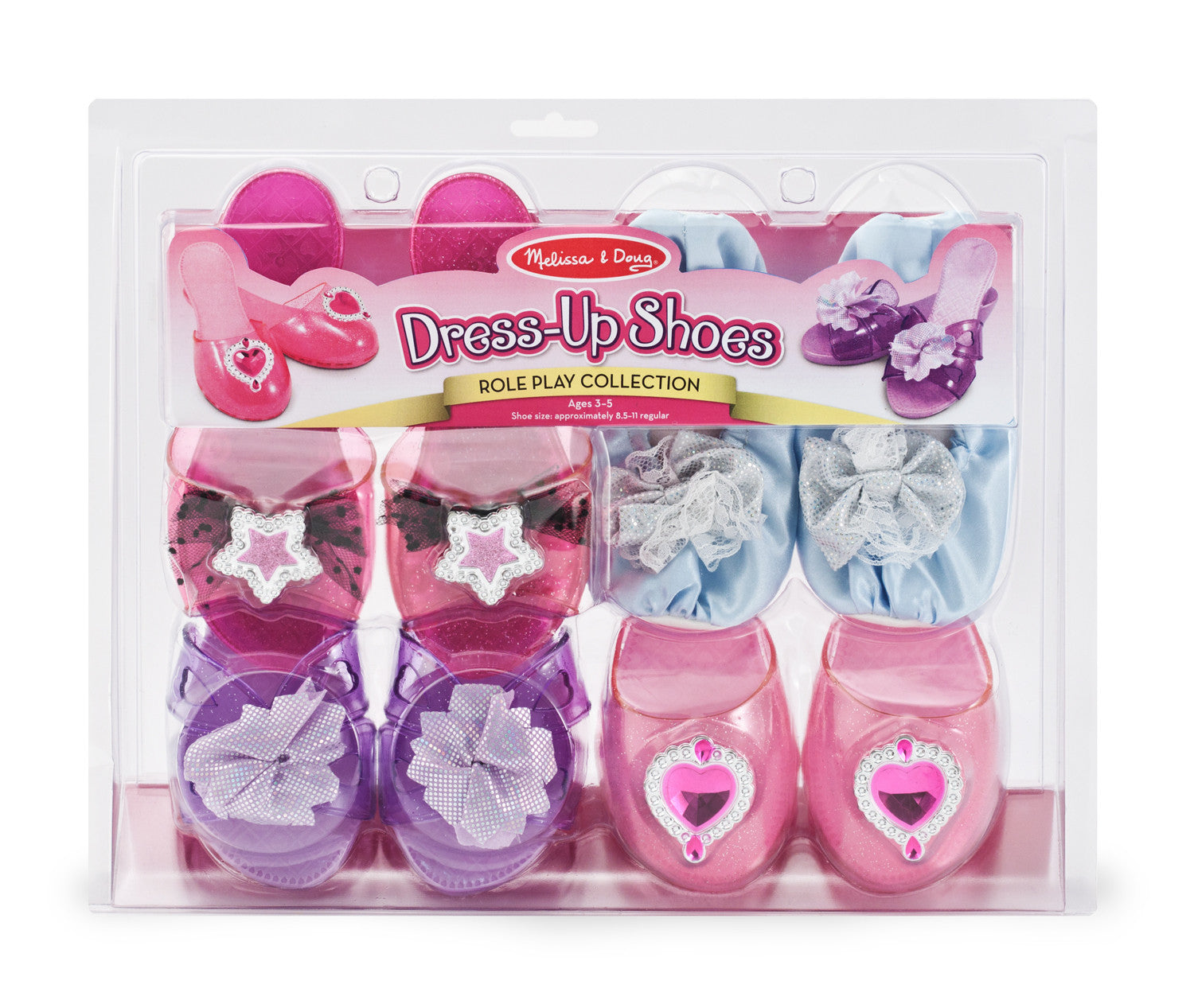 Melissa & Doug Dress-Up Shoes - Role Play Collection 8544